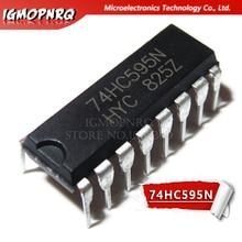 10pcs gratis verzending SN74HC595N SN74HC595 74HC595N 74HC595 DIP-16 Teller Schuifregisters Tri-State 8-Bit nieuwe originele