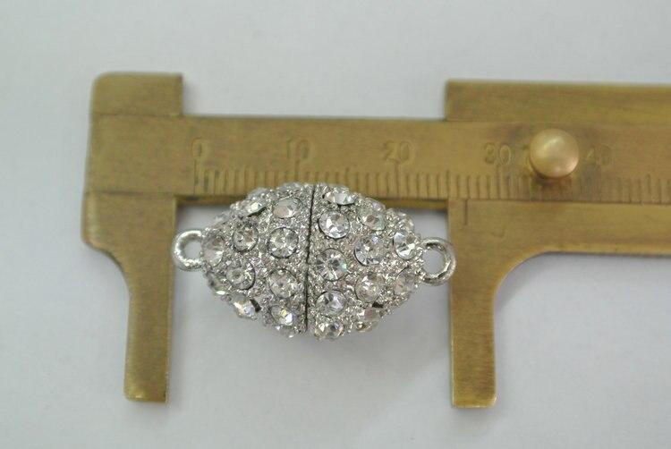 Grânulos De Cristal pavimentada Oval Forma de Cone Colar Magnética Fechos Descobertas Jóias DIY 20 pc/lote