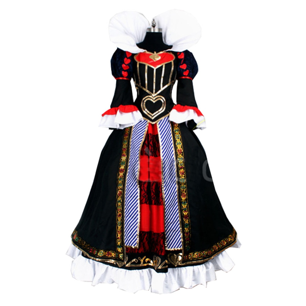 2017 Game Anime Alice Madness Returns Queen of Hearts Customized Uniforms Cosplay Costume Custom-made Any Size
