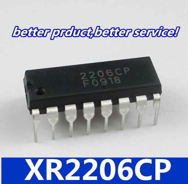 10 peças/lote XR2206CP DIP16 XR2206 DIP 2206CP goodquality