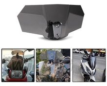 Motorcycle Risen Smoke Windshield Bracket Set Screen Protector Adjustable Lockable for BMW Kawasaki Honda