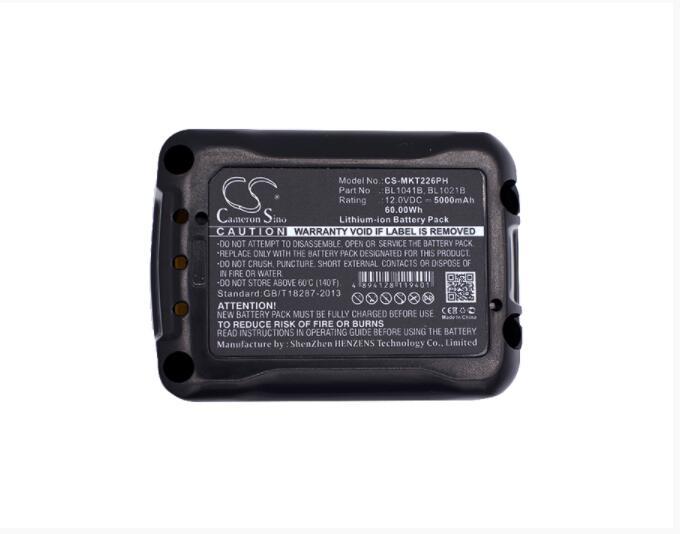 Batería de 5000 mAh para la herramienta MAKITA 12 V Max CXT 12 voltios MAX CXT CG100 CG100D CG100DSYEX CG100DWAEA CG100DZA CL106FD