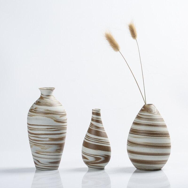 Florero de artesanía pequeño, jarrones de cerámica creativos, miniflorero pequeño, accesorios de...