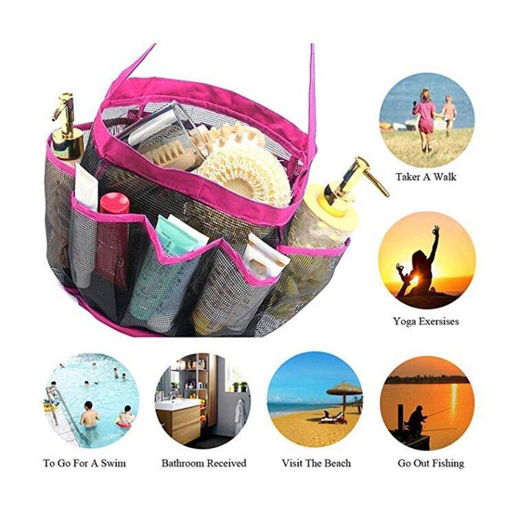 ¡Producto nuevo de 2019! bolso de baño con ducha de malla, Caddy con 8 cestas, paquete de almacenamiento de bolsillo, productos para el hogar a bajo precio