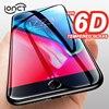 Cubierta completa de vidrio templado 6D para iphone 6 vidrio 6 s 7 Plus 8 Plus X XR XS MAX Protector de pantalla iphone 7 película de vidrio borde curvado protección