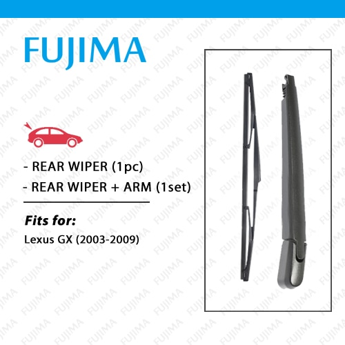 Rear Wiper Blade and Arm for LEXUS GX470 GX 470 (2003-2009) Back Window Windscreen Rear Wiper Arm
