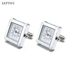Boutons de manchette de montre à piles numériques de luxe pour hommes boutons de manchette dhorloge Lepton boutons de manchette de montre pour hommes bijoux Relojes gemelos