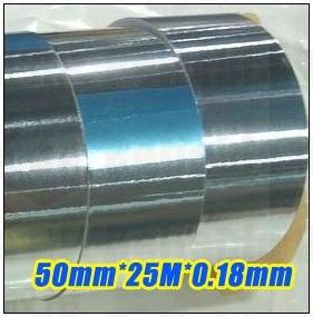 Cinta de papel de aluminio adhesivo de una cara de 0,18mm de grosor, 5cm, 50mm x 25 metros para protección EMI de ordenador portátil, enmascaramiento de señal de teléfono móvil y coche