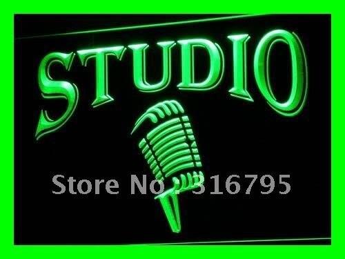 I587 студийный на воздухе микрофон бар светодиодный неоновый светильник знаки Вкл/Выкл Переключатель 20 + цвета 5 размеров