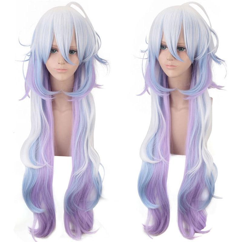 Anime Fate/Grand Order Caster Merlin peluca larga Cosplay disfraces Fate Stay noche resistente al calor pelucas de pelo sintético Halloween peluca