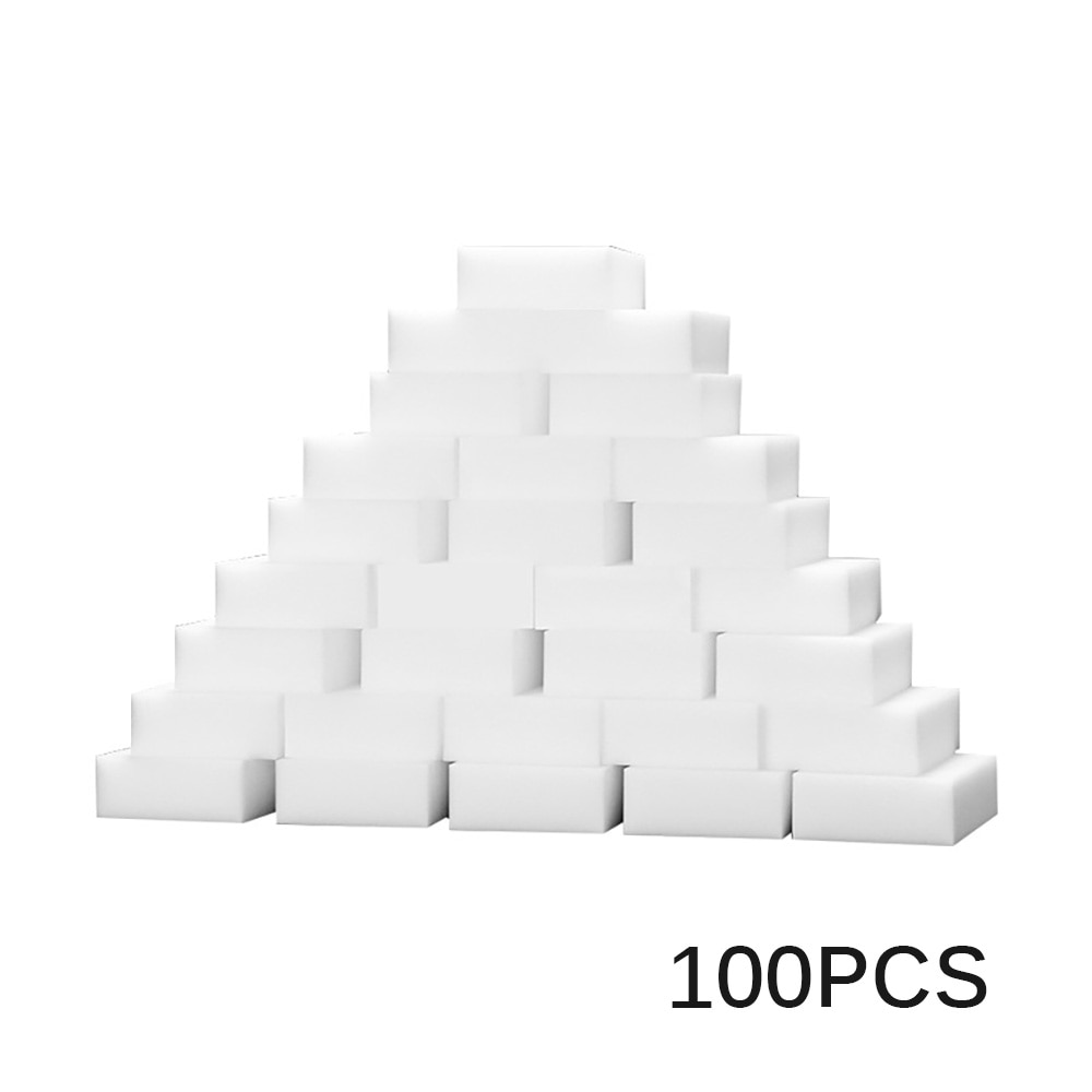 100 pçs/set 100*60*20mm mágica melamina esponja multi-funcional limpeza borracha esponja sem saco de embalagem