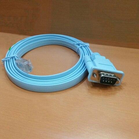 1 Uds RJ45 macho a DB9 RS232 Cable adaptador de puerto serie macho M/M 1,5 M