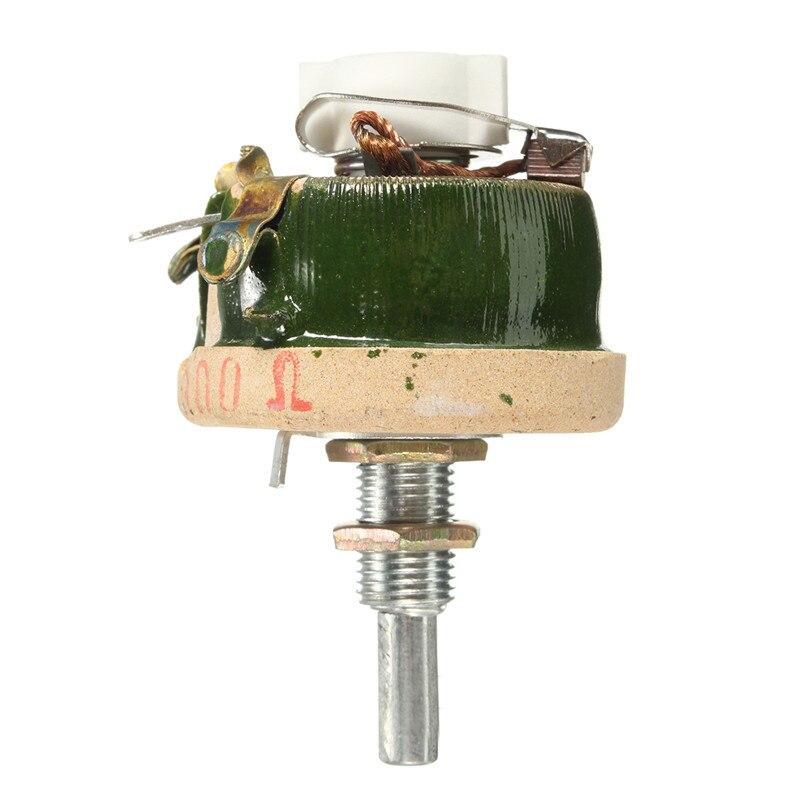 Новое естественное охлаждение 25 Вт 300 Ом высокой мощности с проволочной обмоткой реостат потенциометра, переменный резистор с высокой веро...
