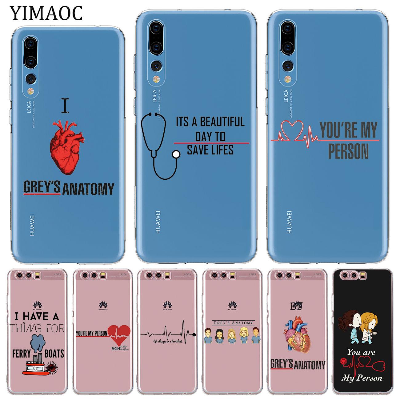 YIMAOC-funda de silicona suave para teléfono, carcasa gris para Huawei P30, P20...