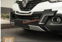Abs Plastic black Front Bumper Protector Skid Plate Guard Cover For Renault Kadjar 2016 2017
