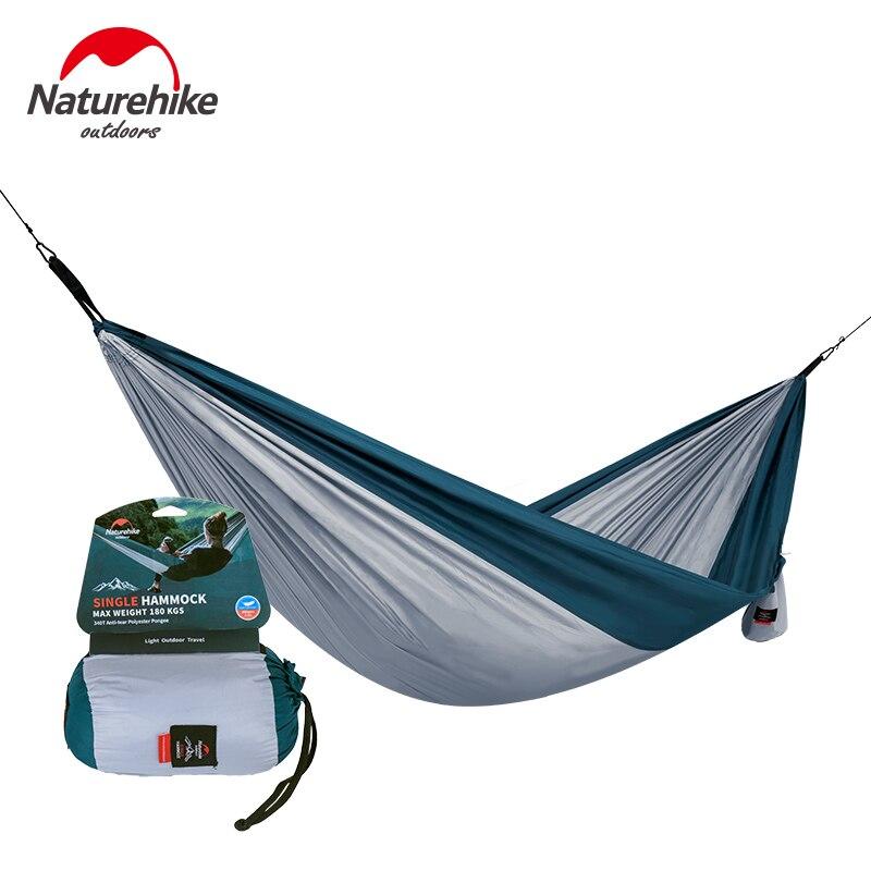 NatureHike Ultraleicht Einzel Hängematte Outdoor Camping Jagd Tragbare Hängematten Doppel Person 3 Farben NH17D012