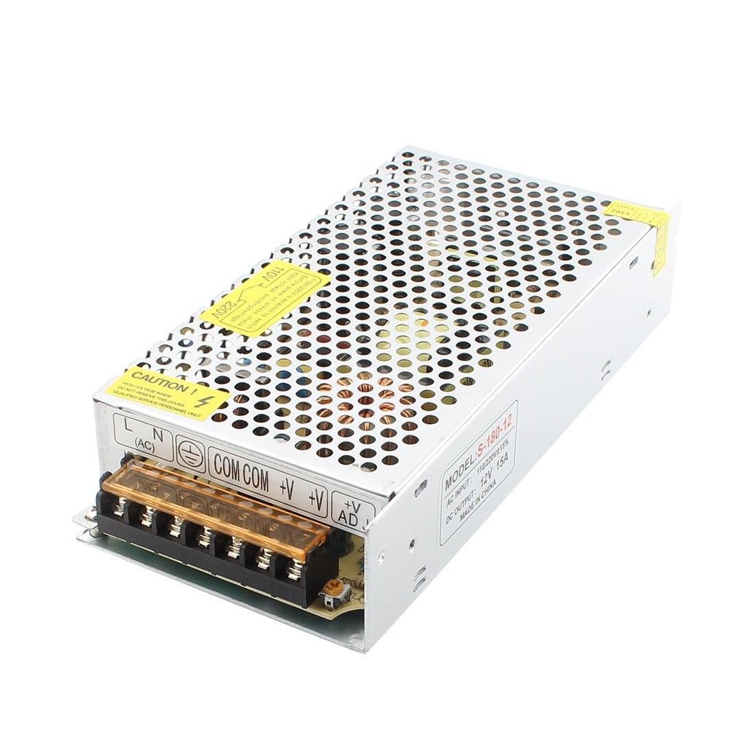 S-180-12 LED Strip Light Display Switch Power Supply DC 12V 15A 180W