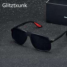 Glitztxunk BRAND DESIGN Classic Sunglasses Men Women Driving Male Square Black Frame Sun Glasses For