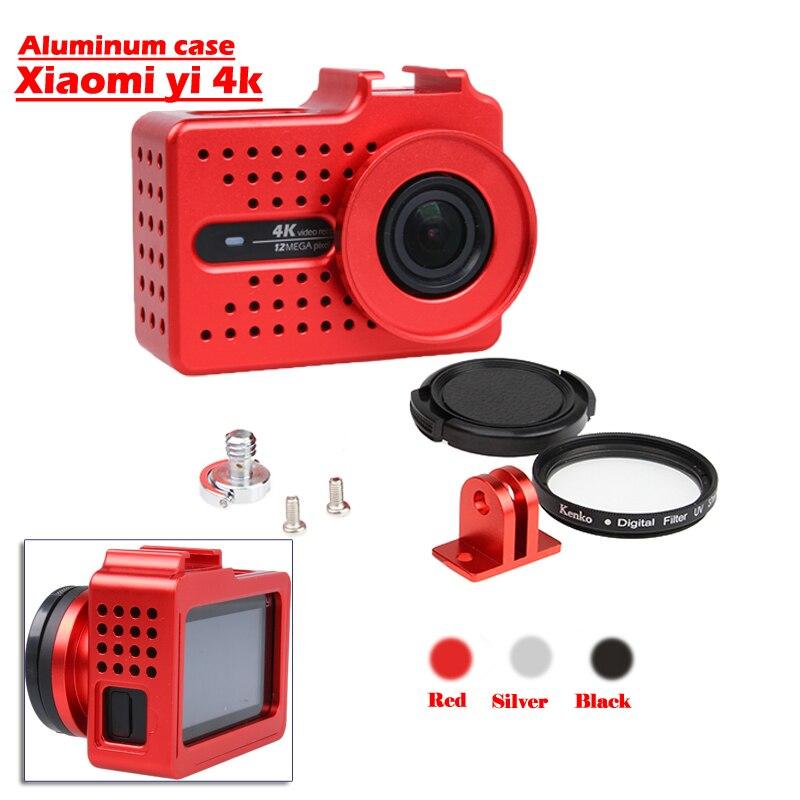 New For Xiaomi Yi 4k 2 case, Aluminium Alloy Metal Housing Frame Protective Case +UV filter for Xiao Yi II 4k action camera