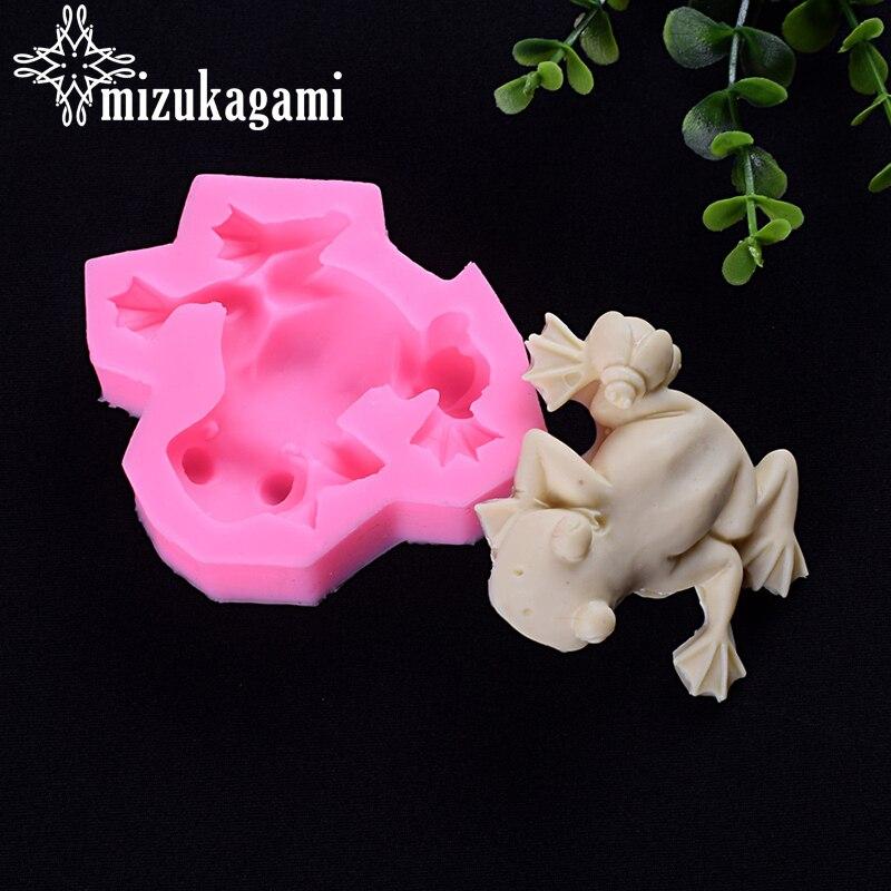 1 шт., силиконовая форма для жидкой УФ смолы, 3D форма для лягушки, животных, форма для смолы «сделай сам», инструмент для выпечки, фурнитура дл...