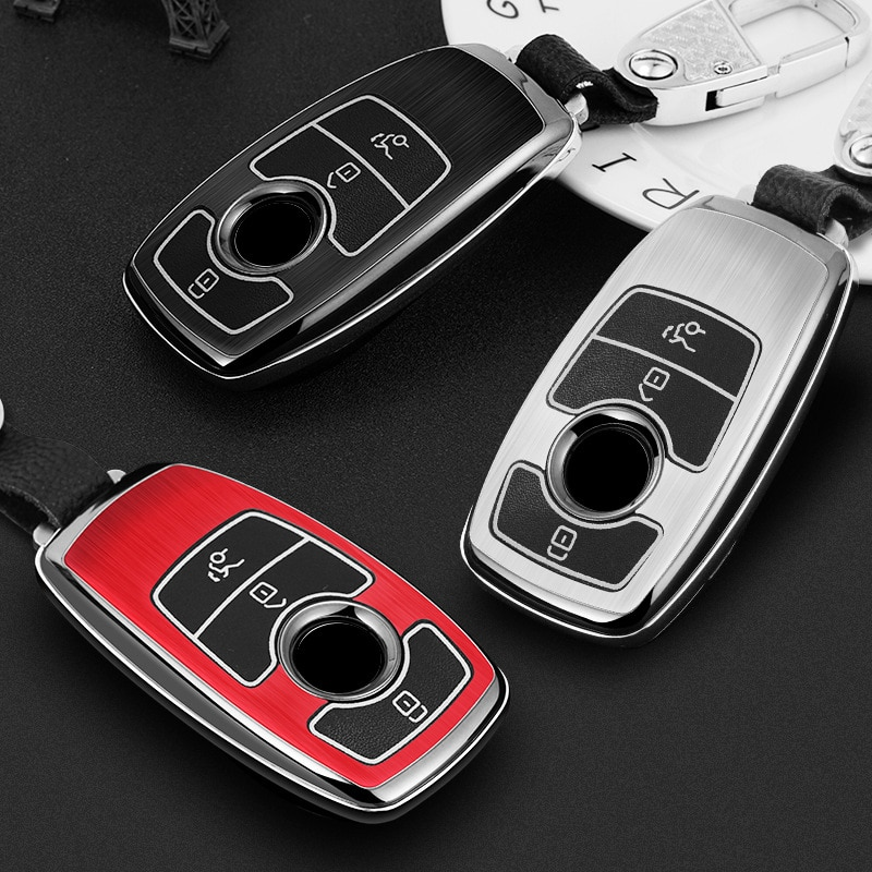 Luminous Car Key Fob Case Protective Cover Black For Mercedes-Benz W177 W205 W213 W222 A205 A217 A238 S205 S213 C205 C217 C238