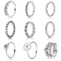 silver color ring charms flower purple crystal ring diy crystal for women jewelry