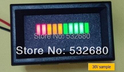10 Bar LED Digital 36 V indicador de estado de descarga de batería para carrito de Golf, vehículo eléctrico, sistema Solar