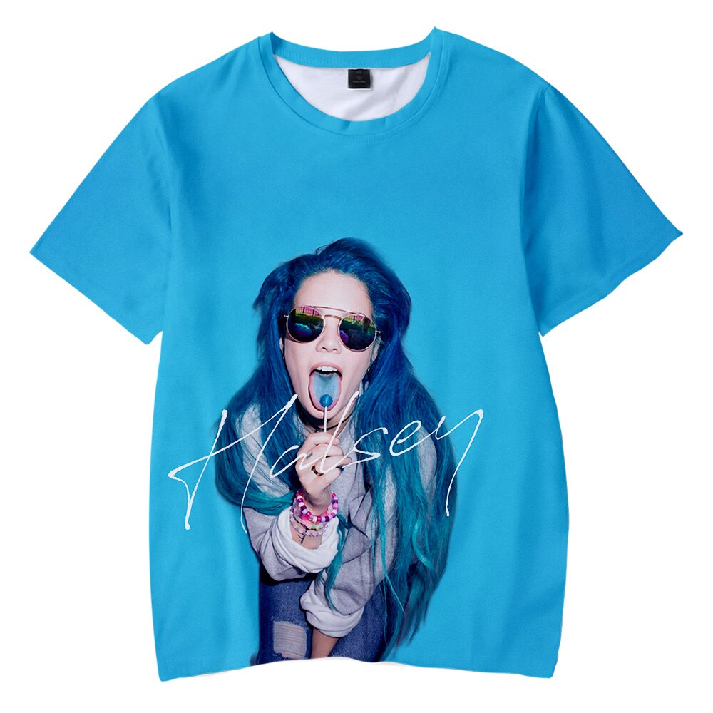 Halsey 3D Printed Family Matching T-shirts Fashion Summer Short Sleeve Tshirts 2019 Hot Sale Casual