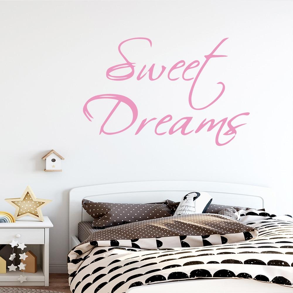 Pegatina de decoración de pared para el hogar dulce cita soñada para habitación de niña vinilos murales de dormitorio naklejki na sciane