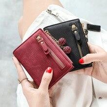 กระเป๋าสตางค์น่ารัก PU กระเป๋าสตางค์แฟชั่นผู้หญิงสั้นกระเป๋าสตางค์นักเรียนเหรียญกระเป๋าถ...