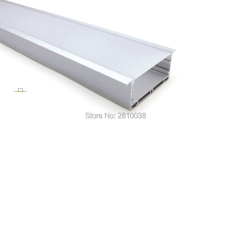 50 X 2M Sets/Lot Linear flange aluminum profile for led stripes super large T style aluminium led extrusions for mounted ceiling