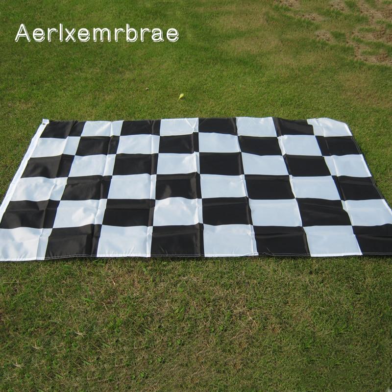free shipping aerlxemrbrae  3*5FT Racing Flag Hanging checkered