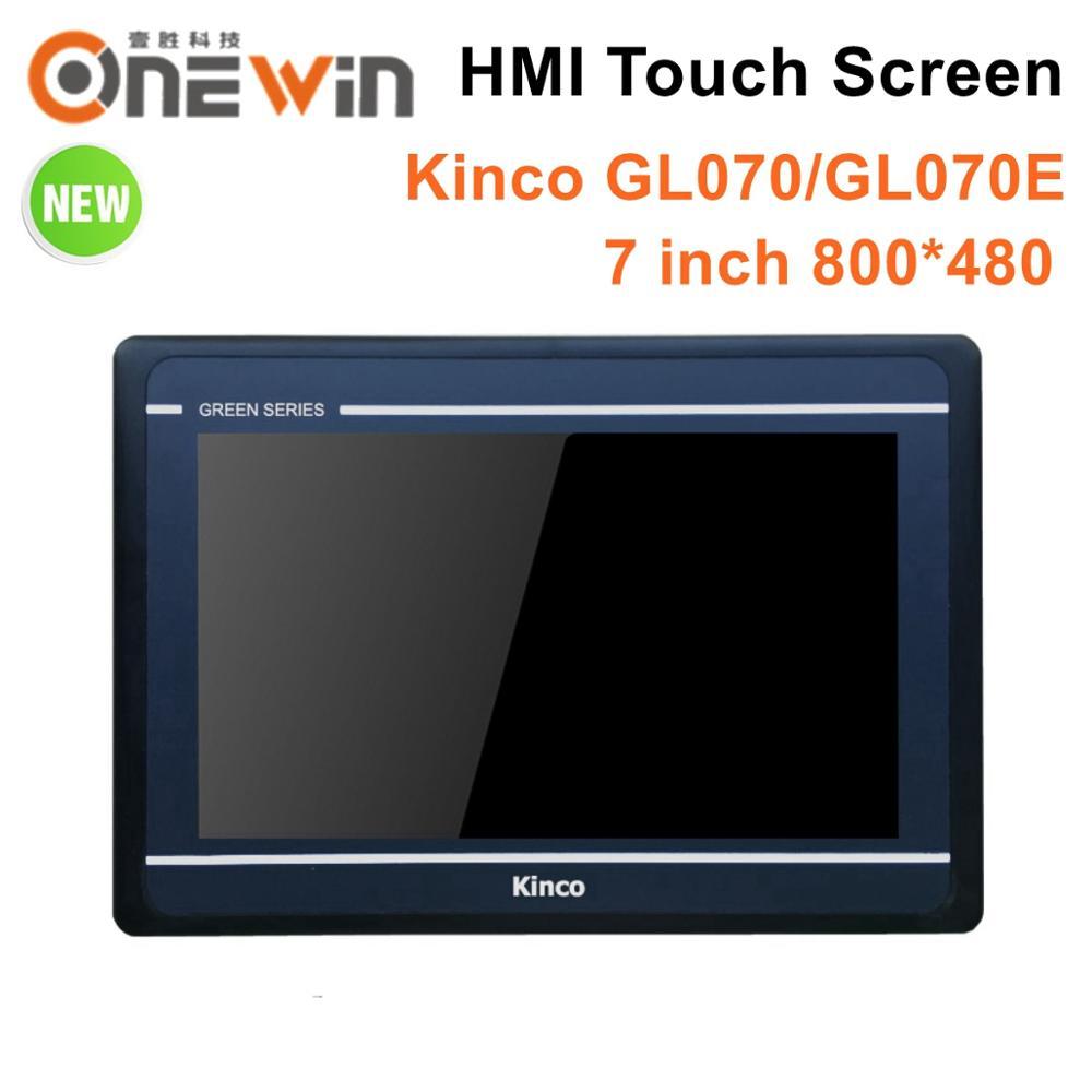 Kinco GL070 GL070E HMI شاشة تعمل باللمس 7 بوصة 800*480 إيثرنت 1 USB المضيف جديد واجهة ما بين المستخدم والآلة ترقية MT4434TE MT4434T