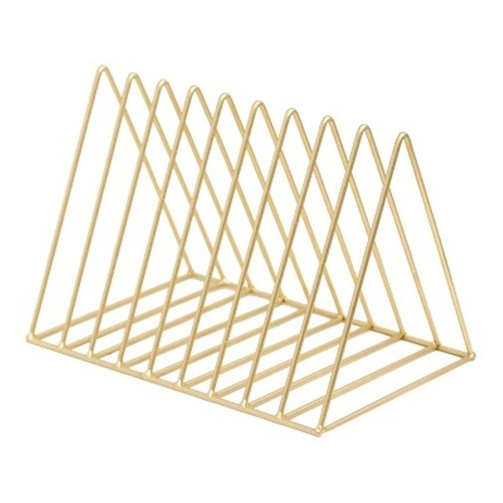 Moderno simplificado geométrica periódico estante de libro revista soporte habitación estudio, escritorio artículos organizador Rack