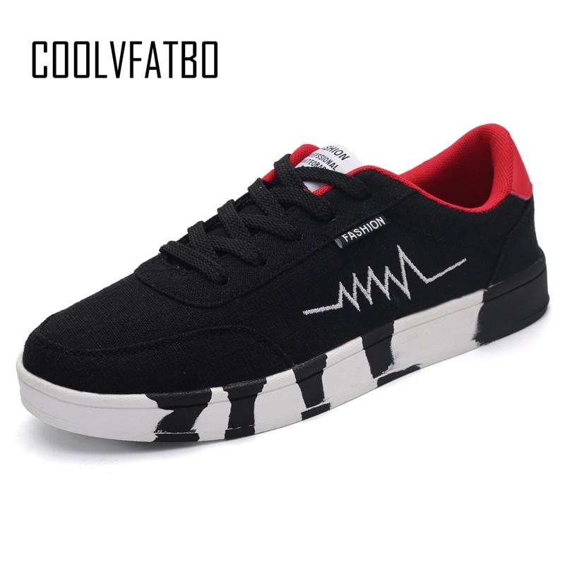 COOLVFATBO, zapatos de lona a la moda para hombre, calzado de pared para exteriores para hombre, zapatillas bajas con cordones, zapatos de Skate Unisex informales