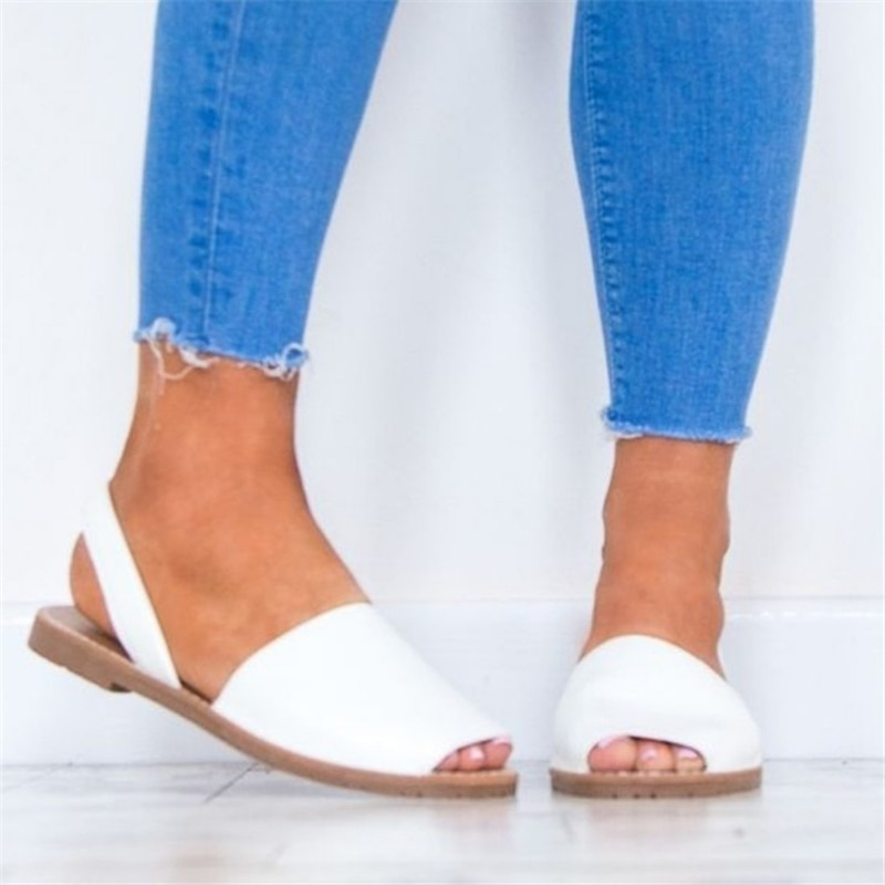 COZULMA Women Fashion Sandals Open Toe Slippers Women Summer Shoes Plus Size Shoes Size 35-43  Woman Soft Bottom Flats
