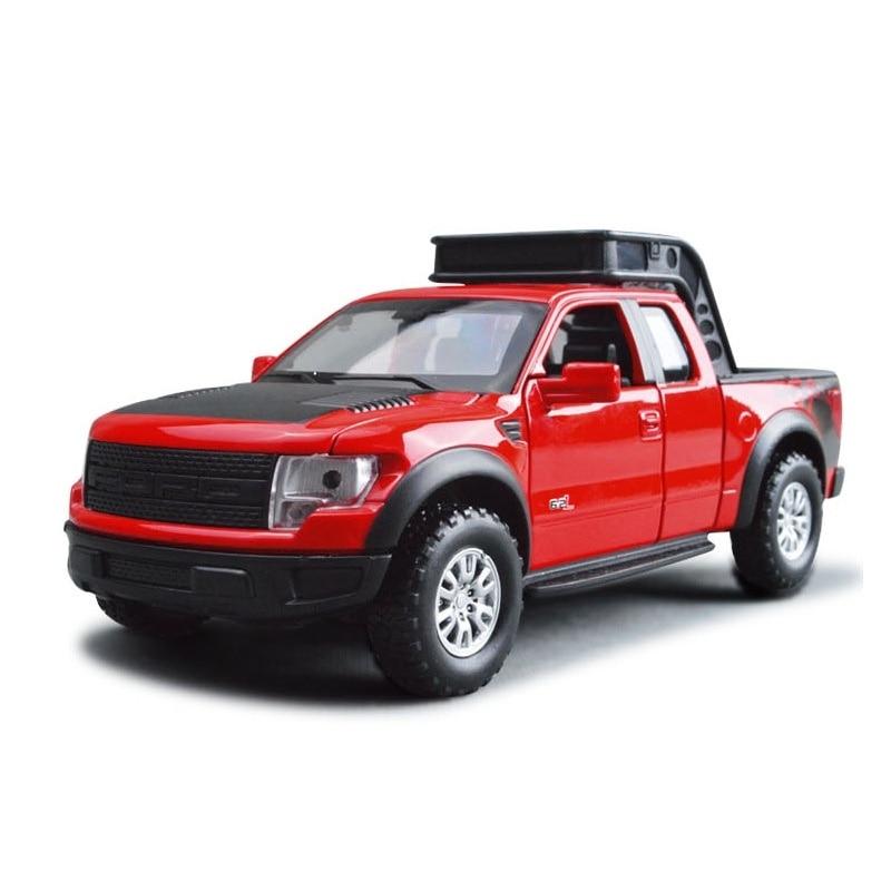 Ford-camión Raptor F150, coche en miniatura de aleación, juguetes fundidos a presión