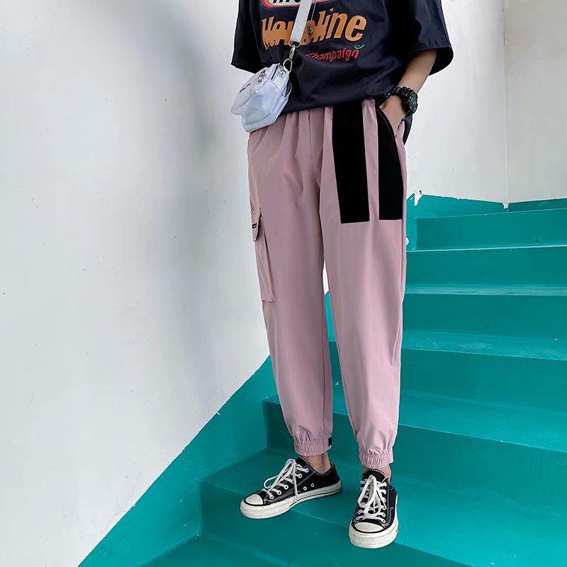 Harajuku nueva tendencia Harlan deportes hombres casual bolsillos Cargo Harem pantalones hombres hip hop streetwear hombres pantalones personalidad pantalones