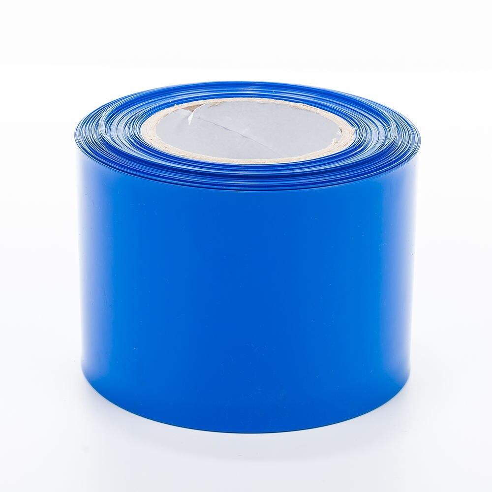 3 mètres/lot 250Mm plat de PVC DE Largeur DE film thermorétractable Tube Couleur Bleue Pour 18650 Batterie