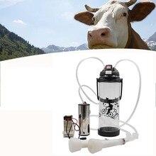 Machine à traite de vache noire   Machine à lait 3L à une tête électrique à impulsion unique, mileuse de chèvres ovines Portable, pompe à vide 110V-220V