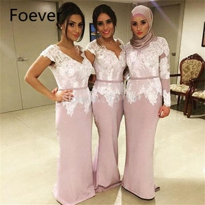 Generous 2019 Top Selling Mermaid V-Neck Cap Short Sleeve White Appliques Lace Evening dress for women
