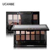 Ucanbe 12 couleurs Pro terre nue couleur maquillage fard à paupières Palette avec brosse Smoky ombre à paupières miroitant mat minéral imperméable Kits