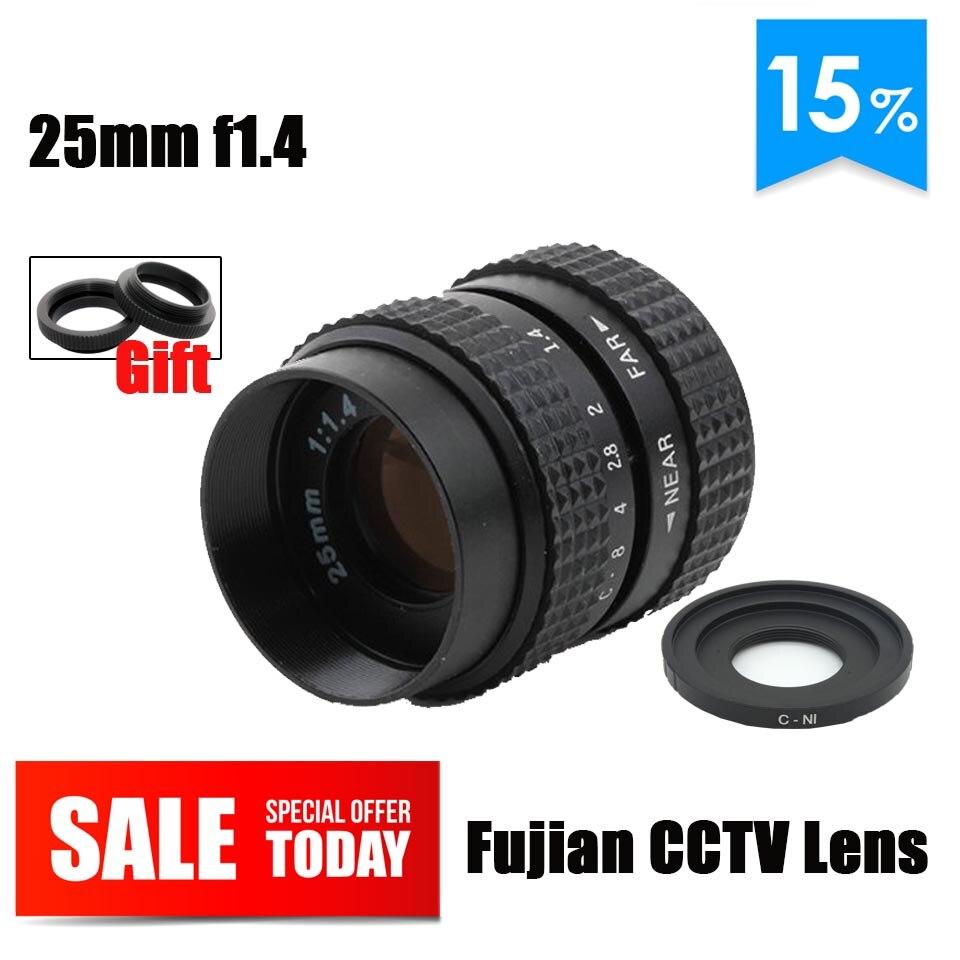 Фуцзянь 25 мм F1.4 cctv объектив C N1 адаптер с горы Macro Ring для Nikon 1 J5 S2 J4 V3 AW1 s1 J3 V2 J2 J1 V1 до