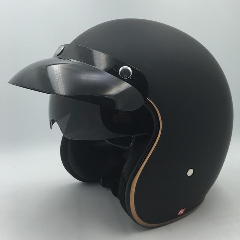 Gran oferta Vcoros moto rcycle casco de moto cicleta vintage piloto de jet moto Cascos aprobada por el DOT, M, L, XL, XXL tamaño casco capacete moto