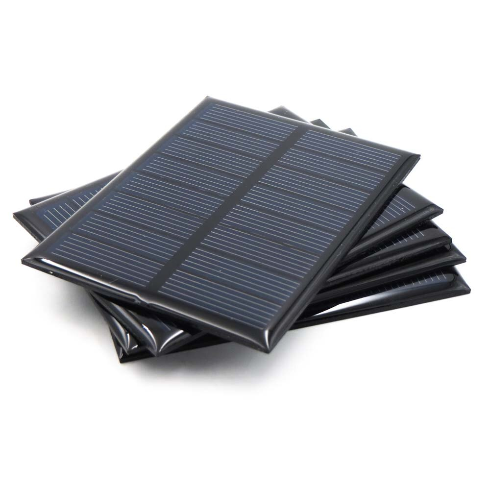 Célula Solar 5,5 V Mini Sistema Solar DIY para la batería 5V Panel Solar cargadores de teléfono portátil 70mA 80mA 100mA 110mA 160mA 180mA 291mA