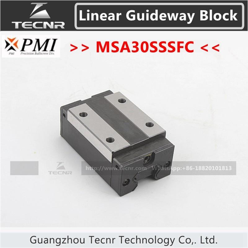 Тайвань PMI линейная направляющая скользящая каретка MSA30S MSA30SSSFC слайдер для CO2 лазерной машины