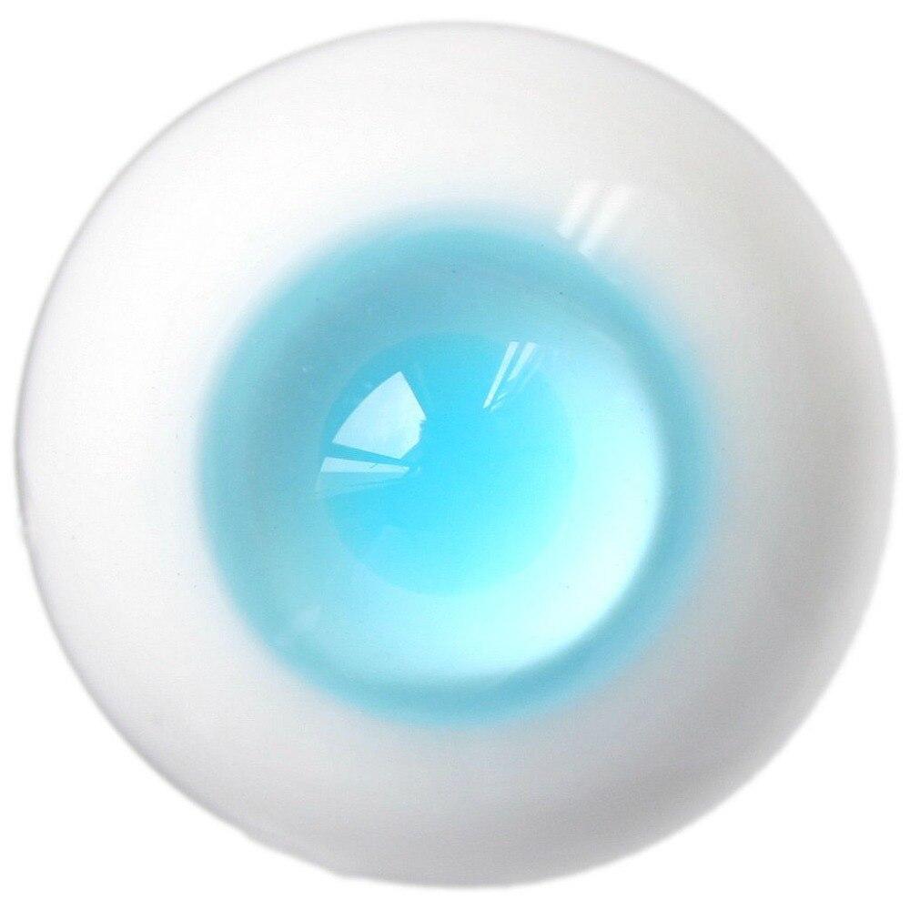 [Wamami] Et08 #8mm 10mm 12mm 14mm 16mm 18mm 20mm luz azul alumno SD DZ a mano acrílico + resina BJD ojos de vidrio conjunto