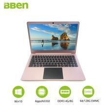 14.1 pouces windows10 ordinateur portable Intel celeron N3450 Apollo Lake 4 GB/64 GB EMMC + SSD M.2 128 GB/256 GB en option quad cœurs FHD