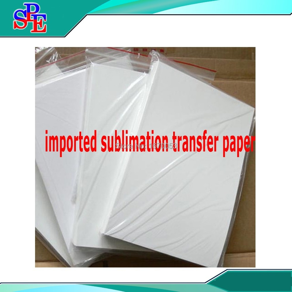 20 piezas tamaño A4 papel para transferencia de sublimación térmica DIY en blanco, taza/plástico/camisetas, impresora de inyección de tinta EPSON disponible