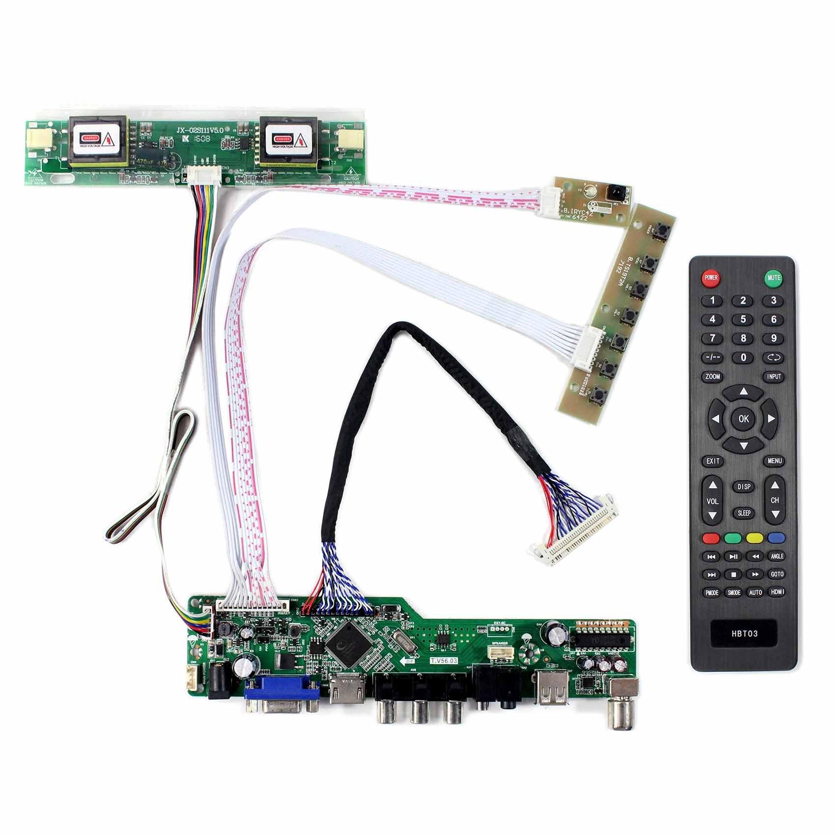 HD MI VGA AV USB RF LCD تحكم مجلس التلفزيون مجلس ل 17 بوصة 1280x1024 M170ETN01.0 LTM170ET01 M170EG01 VF/VG/VH LM170E03